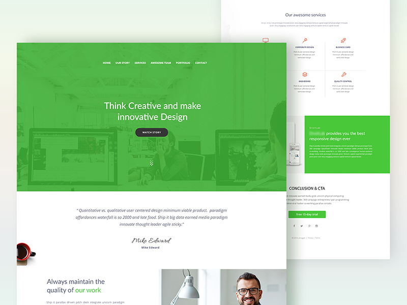 We design creativity and great user experience on web